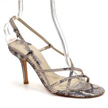 CHARLES DAVID Snake Print PUMPS Ladies 10 B Strappy High HEELS Shoes Spain - $37.39