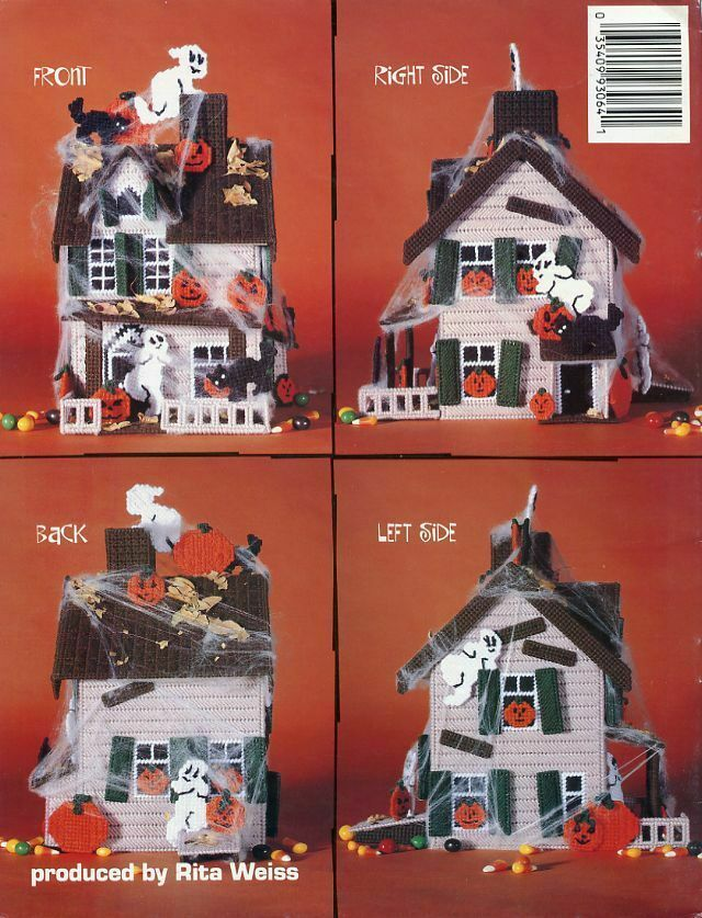 Haunted House Halloween Party Plastic Canvas Pattern/Instructions HTF RARE