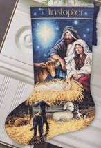 Dimension Holy Night Nativity Manger Christmas Cross Stitch Stocking Kit 08838 - $47.95