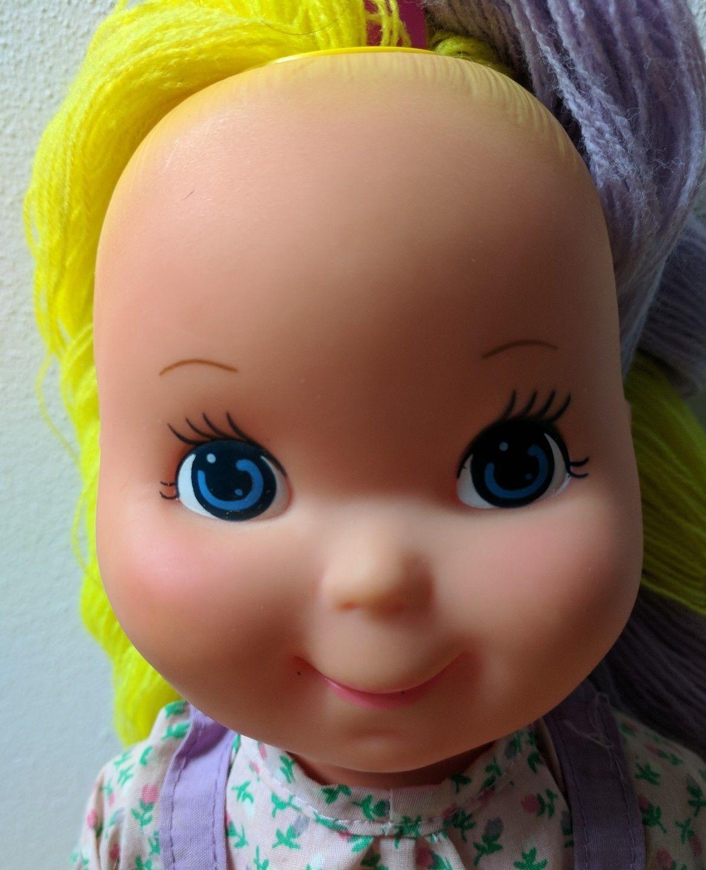 Gabriel Toys Pretty Cut & Grow Doll w/ Dress, Yellow & Purple Yarn Hair