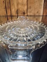 Jeannette Glass Windsor Pattern w/ Handles Sandwich Plate, Tray Vintage ... - $22.70