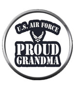 Proud Grandma USAF Air Force Support US Military 18MM - 20MM Snap Jewelr... - $5.95