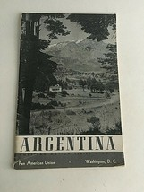 Vintage Visitor's Guide Tourism Argentina History American Nation Series... - $17.77