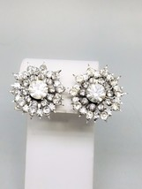 Coro Vintage Rhinestone Screw In Signed Earrings - $18.72