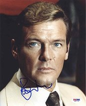 Roger Moore 'James Bond' Signed 8x10 Photo Certified Authentic PSA/DNA COA - $296.99