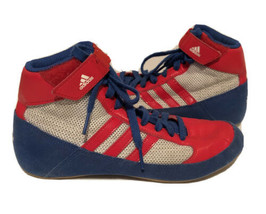 ADIDAS Havoc Wrestling / Boxing Shoes Childs Size 4 Red/White/Blue - $19.79