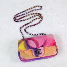 AUTHNTIC CHANEL LIMITED EDITION LAMBSKIN QUIILTED MINI FLOWER POWER FLAP BAG image 3