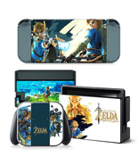 Nintendo Switch Console Joy-Con Dock Skin Zelda Breath of the Wild Vinyl... - $9.00