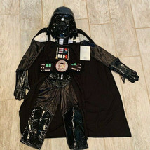 Star Wars costume Disney Store NWT boy Halloween Darth Vader size 9/10 h... - £26.14 GBP