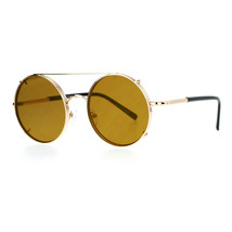 Sunglasses & Clear Glasses Clip On Flat Lens Round Circle Designer Frame - $12.95