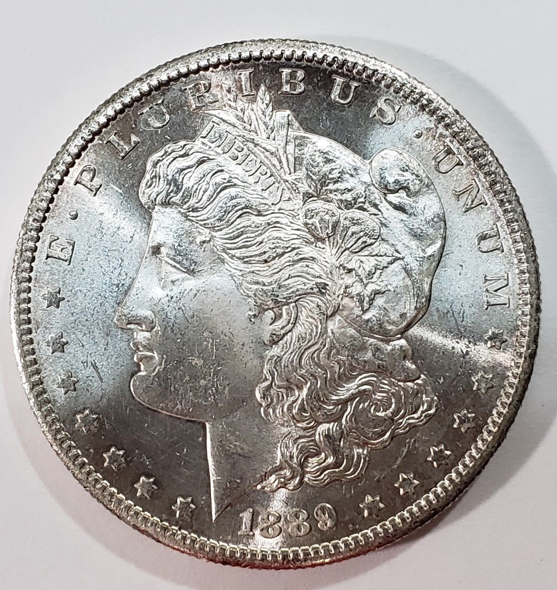 1889S MORGAN SILVER DOLLAR COIN Lot# E 301