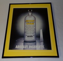 2003 Absolut Citron Vodka Framed ORIGINAL 11x14 Advertising Display - $32.36