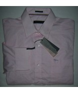 Tommy Hilfiger Classic Fit Non-Iron Pink Banker Stripe Dress Shirt 16.5 ... - $24.70