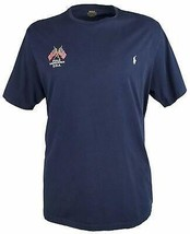 Polo Ralph Lauren Mens Navy Blue Short Sleeve Embroidered Tee Shirt XLT ... - $29.44