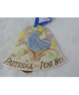 POTTERY Two Turtle Doves & Partridge in Pear Tree Bell shape Ornament 3 ... - $15.83