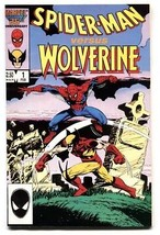 Spider-Man versus Wolverine #1 comic book 1987 Marvel Cross-over  vf- - $25.22