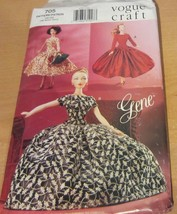 Vogue Gene Doll Clothes Pattern # 705 1955 for day or night - $14.20