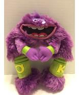 "Disney Pixar Plush Purple Monster Toy University Art 9"" - $5.89"