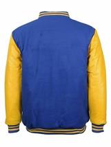 Men's Classic Snap Button Vintage Baseball Letterman Varsity Jacket w/ Defects image 2