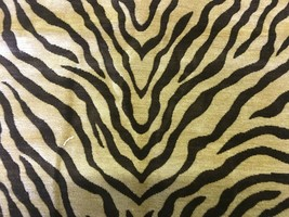 Reversible Tiger Print Chenille Upholstery Fabric 1.5 yards NS - $29.92