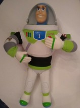 Buzz Lightyear Soft Doll Vinyl Hard Face & Hands Toy Story Walt Disney W... - $13.81