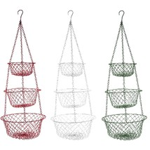 3 Tier Hanging Fruit Basket Bowl Holder Stand Kitchen Vegetables Storage... - $13.17