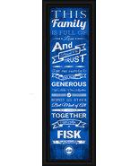 Fisk University 24 x 8 Family Cheer Framed Print - $39.95
