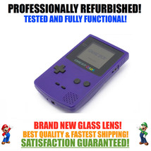 *NEW GLASS SCREEN* Nintendo Game Boy Color GBC Grape Purple System - $46.73