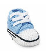 Baby Boys Sneaker Bootie  Size 0-4 Months - $15.00