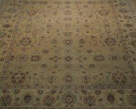 Honey Gold Wool Carpet 9' x 12' New Original Ziglar Oushak Hand-Knotted Rug image 9