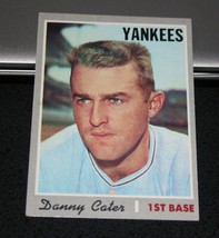 1970 Topps Baseball Card #437 Danny Cater - $3.95