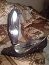 J.Renee Adley Women's Metallic W/ Silver W/CUTOUT Detail Pumps Size 8M Mrsp $79 - $29.69