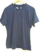 UNDER ARMOUR Mens Navy Blue Crewneck T- Shirt Short Sleeve Size M Medium - $12.95