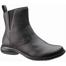 Womens MERRELL Waterproof Leather Ankle Boots Solid Black J45010 SIZE 5 ... - £68.50 GBP