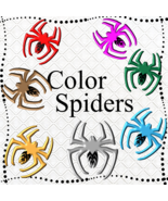 Color Spiders 2-Digital Clipart-Gift Card-Gift Tag-Jewelry-Tshirt-Scrapbook - $3.99