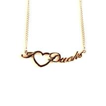 "NCAA Oregon Ducks Heart Script Necklace - Chain Logo Team 18"" Jewelry PA... - €7,35 EUR"