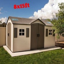 Plastic Storage Shed Heavy Duty Outdoor Backyard House Diy Kit Patio Lar... - $3,243.30