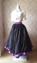 Fuchsia and Golden Tulle Long skirt Tulle Mesh Princess Skirt, Ballet Skirt NWT image 7