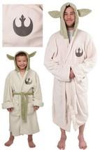 Star Wars Jedi Master Yoda Ear Fleece Hooded Robe Dress Gown Bathrobe Bath Robe - $20.22+