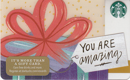 Starbucks 2017 You Are Amazing Collectible Gift Card New No Value - $4.99