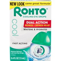 Rohto Redness Relief Cooling Eye Drops, 0.4 fl oz - $7.64