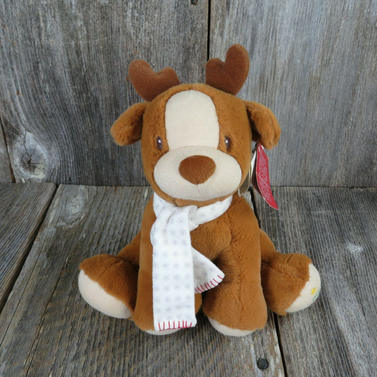 Primary image for Deer Plush Baby Gund My First Christmas Stuffed Animal Antlers Whimsy Wishes UK