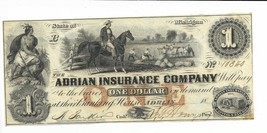 $1 Michigan Adrian Insurance Company 18XX A80 #10340 Overseer on Horse C... - $123.25