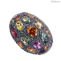 925 Sterling Silver Spacer Bead Ball Sapphire Gemstone Finding Jewelry 2... - $558.09