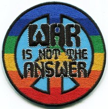 War is not the Answer retro 60s 70s love peace applique iron-on patch S-... - $2.95