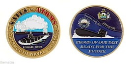 "PORTSMOUTH NAVY NAVAL SHIPYARD SAILS TO ATOMS 1.75"" CHALLENGE COIN - $16.24"