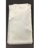 Aprima Tan Trellis Fabric Decorative Shower Curtain Dobby Weave Silver G... - $9.80