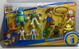 Imaginext Toy Story Deluxe Figure Pack Woody, Forky, Buzz, Bo Peep , Mor... - $31.34