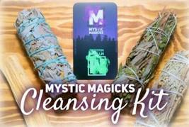 Negative Energy Cleansing & Smudging Kit! Blue, Black, & White Sage, Pal... - $24.99