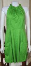 NWT JESSICA SIMPSON SLEEVELESS HALTER Dress LIME GREEN JS3M2556 SIZE 10 ... - $37.36